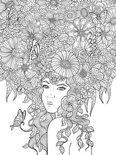 find this pin and more on coloring pages fairies and females - Watercolor Pages