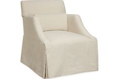 and your pretty for the fireplace   Lee Industries 5200-01 Moyen Lounger Skirted Chair