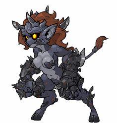 MonsterGirlsGif Bulgasali by MuHut Female Monster, Monster Boy, Ange Demon, Demon Art, Creature Concept Art, Creature Design, Character Concept, Character Art, Monster Girl Encyclopedia