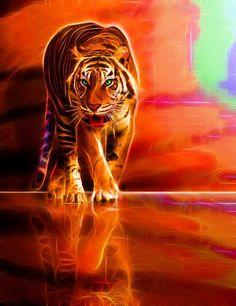 Walking Fractal Tiger.