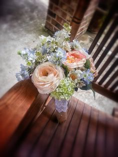 Custom Order Peach Yellow Pale Blue Spring by KAArtisticEvents, $150.00