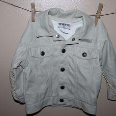 Faux leather fringe jacket, 18 months