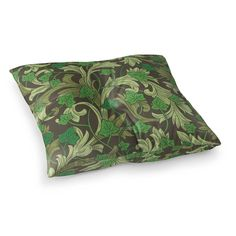 The floor has never looked so good. Easily create more comfortable seating options in the living spaces of your home with this decorative yet multi-functional use floor pillow. Size: 26 x 26. Color: Green. Pattern: Floral. Material: Polyester. #LaminateHardwoodFlooring Floating Vinyl Flooring, Cheap Vinyl Flooring, Vinyl Plank Flooring, Tile Effect Laminate Flooring, Laminate Hardwood Flooring, Carpet Flooring, Best Laminate, How To Clean Pillows, Floor Decor