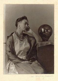 Frida Kahlo in the artist's studio, 1932 by Manuel Álvarez Bravo