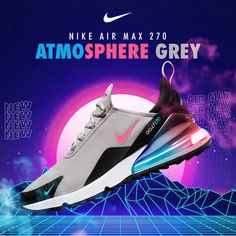 Out now!🙌 Nike Air Max 270 👉 Atmosphere Grey/Hot Punch/Black. Grab them whilst you can! 👀 In-Store & Online⛳️ ___ #nikekicks #NikeAirMax270 #NikeAtmosphereGrey #nikegolfclubs #nikegolf #golfshoes #eGolfMegastore #NikeMiddleEast Nike Golf Clubs, Ar Max, Nike Kicks, Air Max 270, Store Online, Golf Shoes, Punch, Nike Air Max, Grey