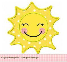Sol apliques 4 x 4 5 x 7 6 x 10-máquina por CherryStitchDesign