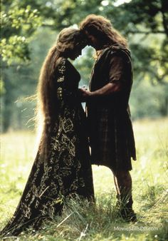 Braveheart publicity still of Mel Gibson & Sophie Marceau