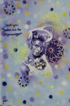 """Will you take me to Tagomago?"" - Straßenkunst in Düsseldorf - Foto: S. Hopp"