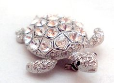 Princess Amanda Borghese Sparkling Crystal Turtle Pin   Bitz of Glitz