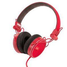 iLuv ReF Headphones for Smartphones - Red Over Ear Headphones, Smartphone, Fit, Shape