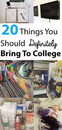 This list is awesome for college!!