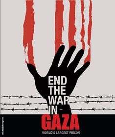 Artists Design for an End to the Killing of the Innocent in Gaza! Poster design by Michael Thompson aka Freestylee, Artist Without Borders.