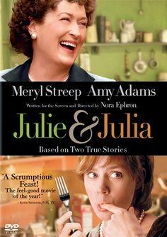 julie & julia - Meryl Streep is fabulous as Julia Child!  Love the movie and the books!