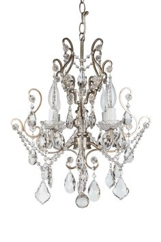 4-Light Crystal Chandelier | Silver | Tiffany Collection