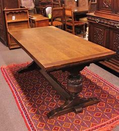 antique draw leaf trestle table stuff table trestle table rh pinterest com