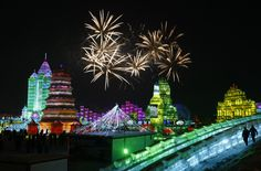 Harbin International Ice and Snow Festival - kicks off every year on Jan 5th and lasts about a month [China]
