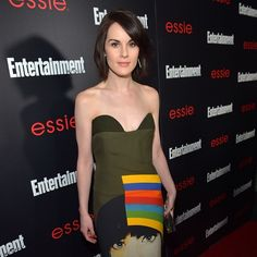 """Michelle Dockery nailed it on the red carpet in essie's 'really red.' """"I chose a fun red to complement my fun Prada dress."""""""