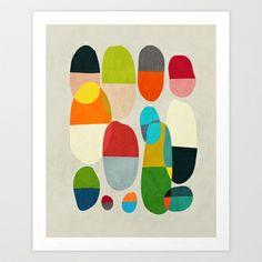 Jagged little pills Art Print by Budi Satria Kwan - $19.97