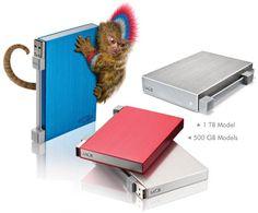 LaCie Rikiki, cool compact external disk!!