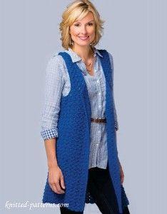 Women's sleeveless jacket crochet pattern free