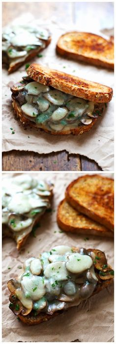 Simple Garlic Butter Mushroom & Provolone Melts   Ingredients:   2      tablespoons butter  8      ounces fresh baby bella mushrooms  2  ...