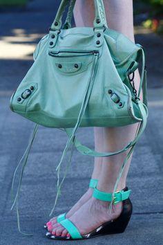 Balenciaga Bag and JustFab shoes