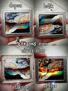 Ready order multicolor froom indonesia with silver ring..