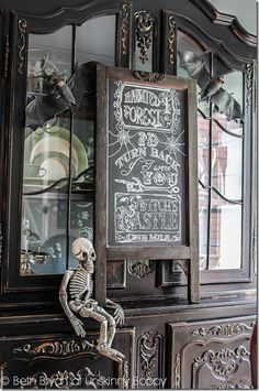 Decorating for a Devilish Dinner Party with DIY Halloween Chalkboard Art
