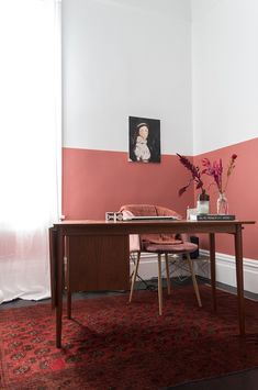 My Terracotta Home Office - images by French By Design Decor, Home, Blue Velvet Chairs, Paint Colors For Living Room, Modern Home Offices, Modern House, My Scandinavian Home, White Desk Chair, Decorating Your Home