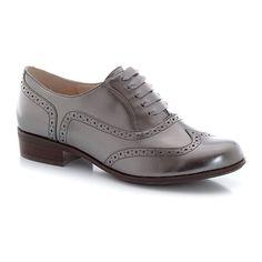 Sapatos derbies em pele, estilo richelieu, efeitos irisados, com atacadores by La Redoute