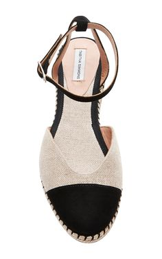 Linen and Suede Espadrille Sandals by Tabitha Simmons - Moda Operandi