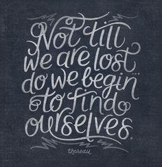 Beautiful Thoreau quote.