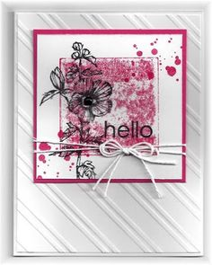 grunge hello card by Becky