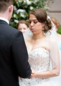 Royce Hotel - Bride Eloise very nervous during ceremony