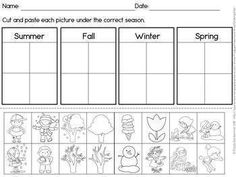 Four Seasons Picture Sorting Posters and Worksheet by Paula's Primary Classroom English Activities For Kids, Primary Activities, Kindergarten Worksheets, Worksheets For Kids, Science Activities, Educational Activities, Learning Resources, Seasons Lessons, Four Seasons Art