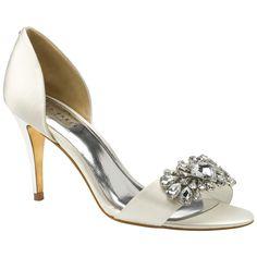 Buy Ted Baker Phinium Embellished d'Orsay High Heel Sandals, Cream Satin Online at johnlewis.com