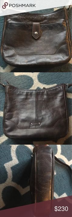 Frye Melissa button crossbody like new! This Melissa Button cross-body is both decadent and distressed, and boasts the signature FRYE craftsmanship. Made of beautiful antique pull up leather that's been burnished to give it that well-loved, already worn look. It is the perfect size to carry all your essentials and just a bit more.  Like new!! I only carried this about three weeks then decided it wasn't my style. Cheaper on e  b a  y Frye Bags