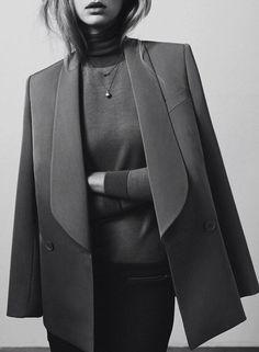 Grey #fashion #style #blazer