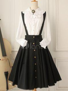 Gotische Buttons Baumwolle Lolita Jumper Skirt http://www.milanoo.com/de/produkt/gotische-buttons-baumwolle-lolita-jumper-skirt-p531033.html#m25366