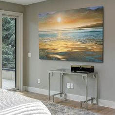 Shop for Bright Cloudy Sunset in Calm Ocean - Contemporary Seascape Art Canvas. Get free delivery On EVERYTHING* Overstock - Your Online Art Gallery Store! Get in rewards with Club O! Canvas Artwork, Canvas Art Prints, Canvas Wall Art, Seascape Art, Abstract Art, Buy Canvas, Wall Art Sets, New Wall, Design Case