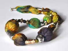 Statement Silk Necklace. Silk Gold Silver Necklace. by TanjaDesign, $49.00
