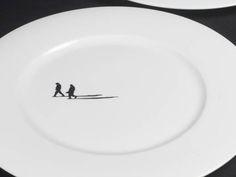 Freshwest : Set of 8 dinner plates