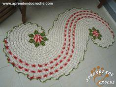 Passadeira de Crochê em Espiral - Tapetes e Toalhas - Aprendendo Croche