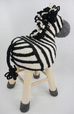 Dieren kruk zebra. Haakpret