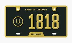 Illinois by Mike McQuade Strong numerals, simple contrasting colors and a well designed template are the basis of this re-design for the Illinois license plate. While researching old plates I found simple, bold designs that contrasted the poorly designed license plates of the past decades. The goal was to take those findings from the archives and make them new again.
