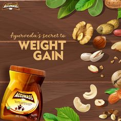 Gain weight with the goodness of Ayurveda! Accumass contains 18 herbs which are well-admired for maintaining a healthy well-being in Ayurveda. If you want to gain weight, intake of one Accumass granules with one glass of milk can help. #Accumass #WeightGainer Weight Gain Plan, Weight Gain Supplements, Milk Cans, Ayurveda, Glass Of Milk, Herbs, Healthy, Herb, Spice