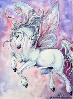 Pegasus http://cagedcanarynz.blogspot.com/... By Artist Marilyn Alice Boyle...