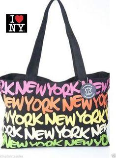 Robin Ruth New York Neon Rainbow Spiral Canvas Designer Tote Bag ...