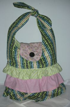 Pretty Ruffled Purse/Bag by QuiltingMyWay on Etsy, $30.00