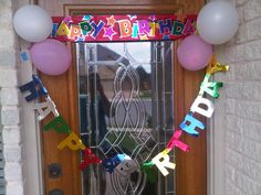 Anonymously decorate someone's door for their birthday- office door of co-worker, bedroom door of family member, front door of friend or neighbor, etc